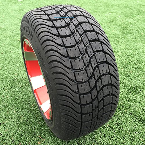 ARISUN 205/50-10 DOT Low Profile Golf Cart Tires - Set of 4 (Low Profile Tires For 18 Inch Rims)