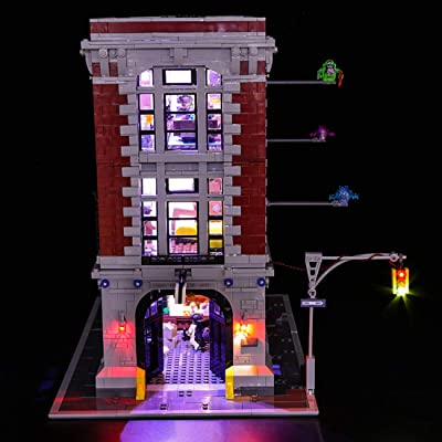 RAVPump Light Set for Ghostbusters Firehouse Headquarters Blocks Model - LED Light Kit Lighting Kit Compatible with Lego 75827 (ONLY Light Set): Toys & Games