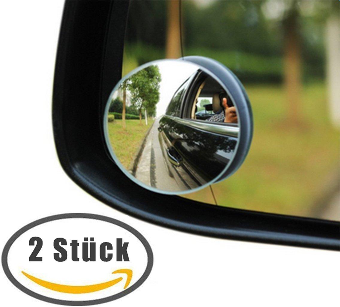 DaoRier Rücksitzspiegel Babyspiegel Auto für Baby Kindersitz Babyschale Autospiegel Universeller Passform Runden Form großer Spiegel 2 Stück