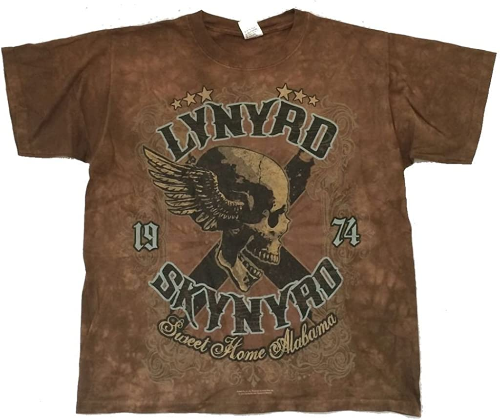 Lynyrd Skynyrd Liquid Blue Sweet Home Alabama Tie Dye Brown T Shirt (M)