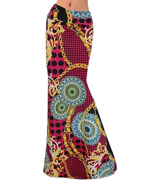 Faldas Acampanadas Largas Mujer Verano Cintura Alta Faldas Largas ...