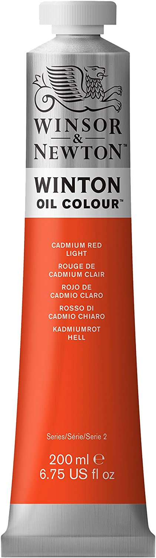 Winsor & Newton Winton Oil Colour Paint, 200ml tube, Cadmium Red Light