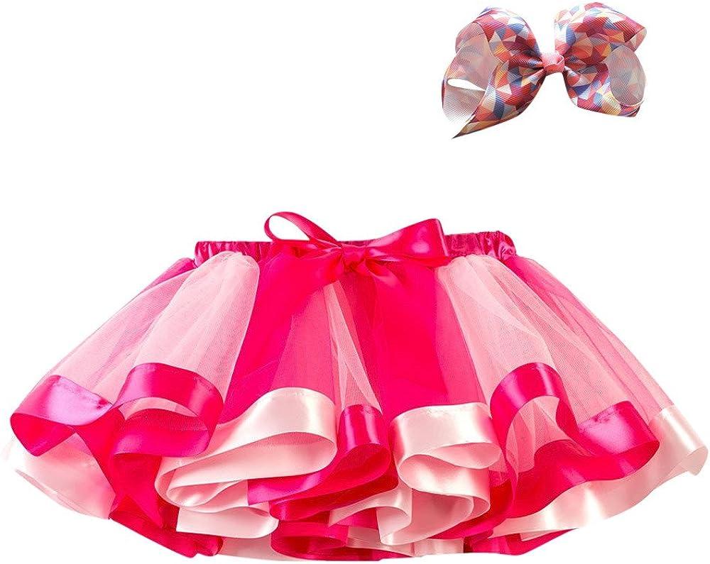 Dress Tutu for Girl Tulle Tutu Skirt Princess Dress Layered Ballet Skirts TOPBIGGER Rainbow Tutu Skirt