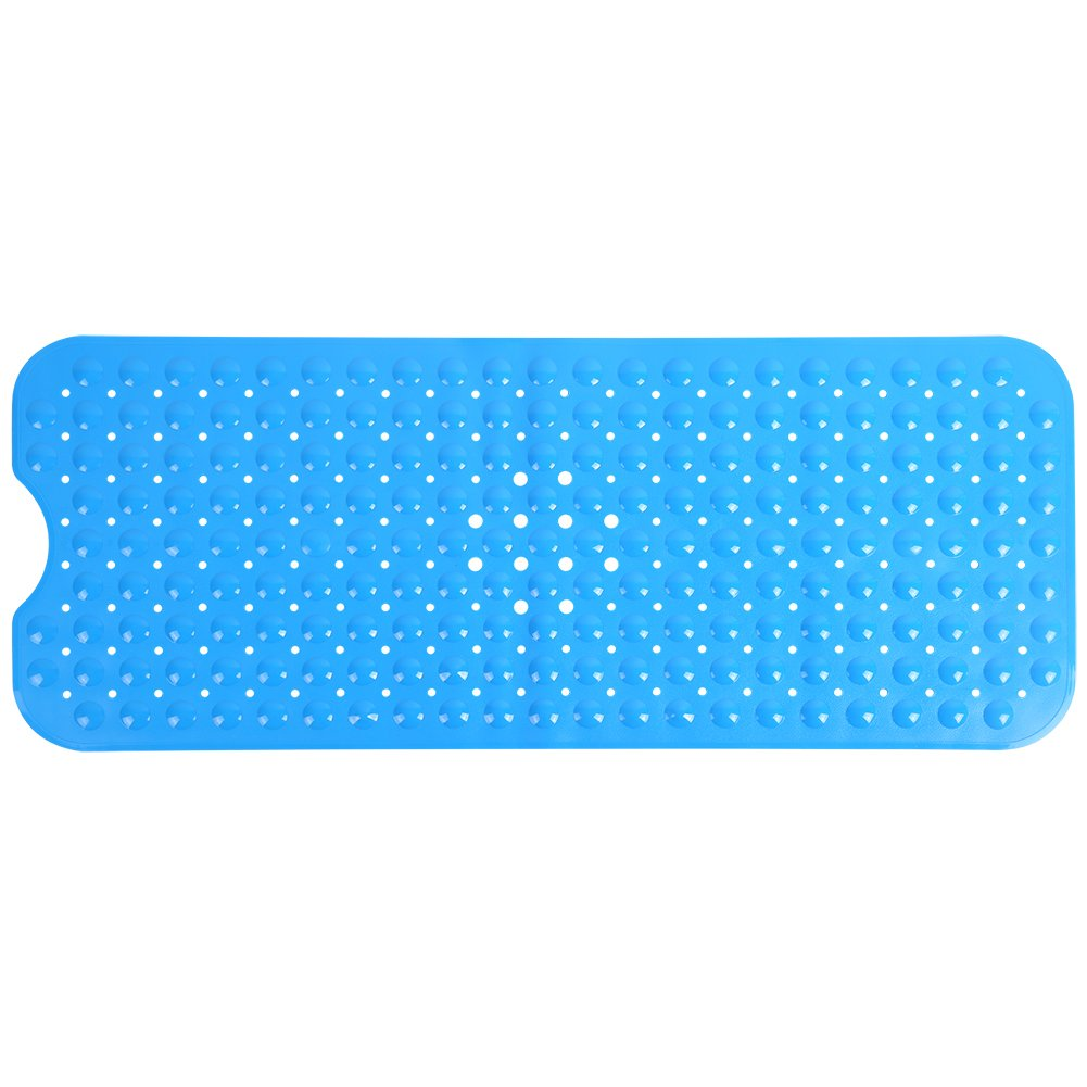 Zerone Bathroom Non-Slip Mat, Rectangle Non-Slip Secure Safety Mat with Suction Cup Slip Resistant Shower Mats for Bathtub Kitchen Bathroom Home Use