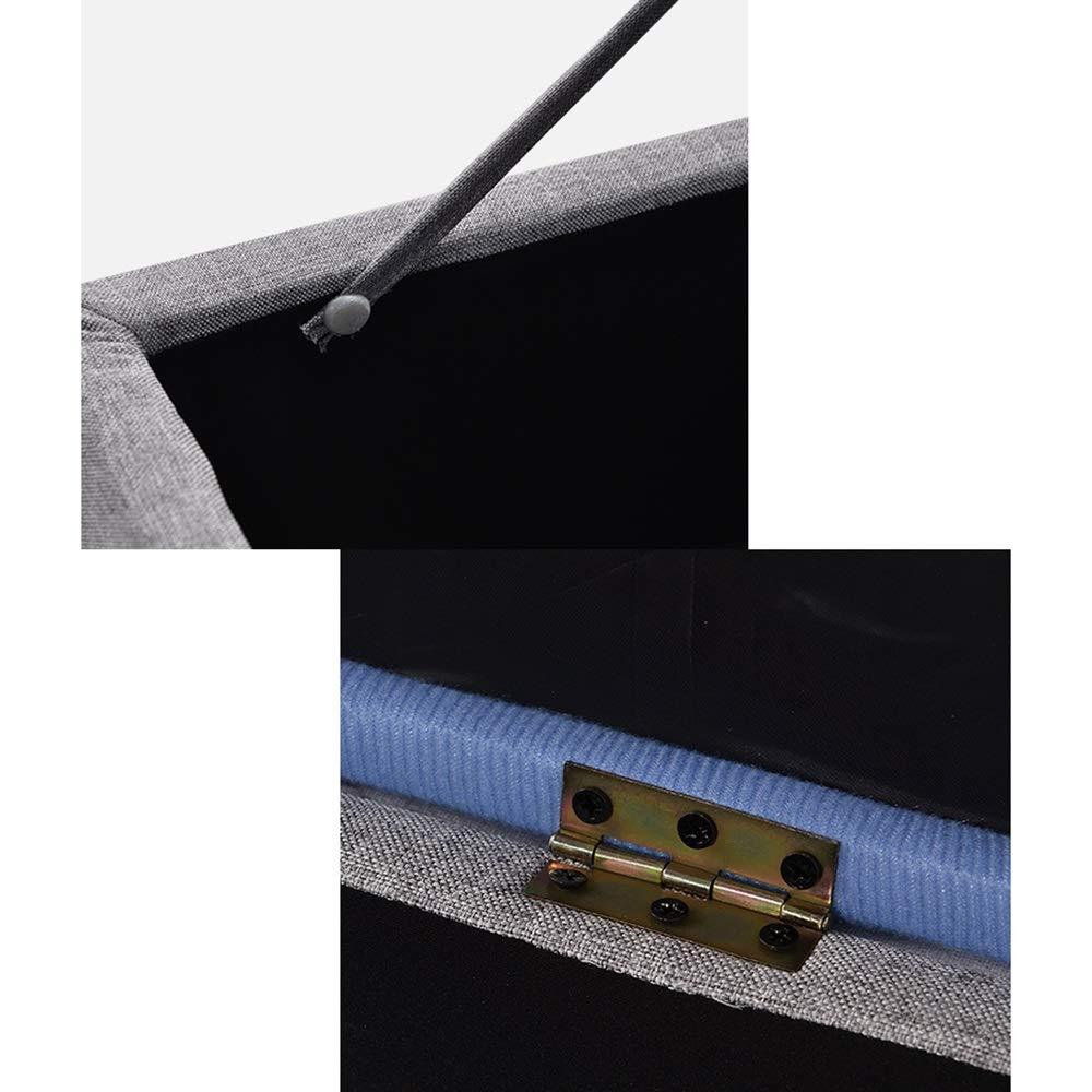 Color : Beige, Size : L60/×W40/×H42cm Divano panca Sgabello per la casa Sgabuzzino per la casa Sgabelli per Soggiorno Sgabello per Il Cambio Sgabelli in Legno GW