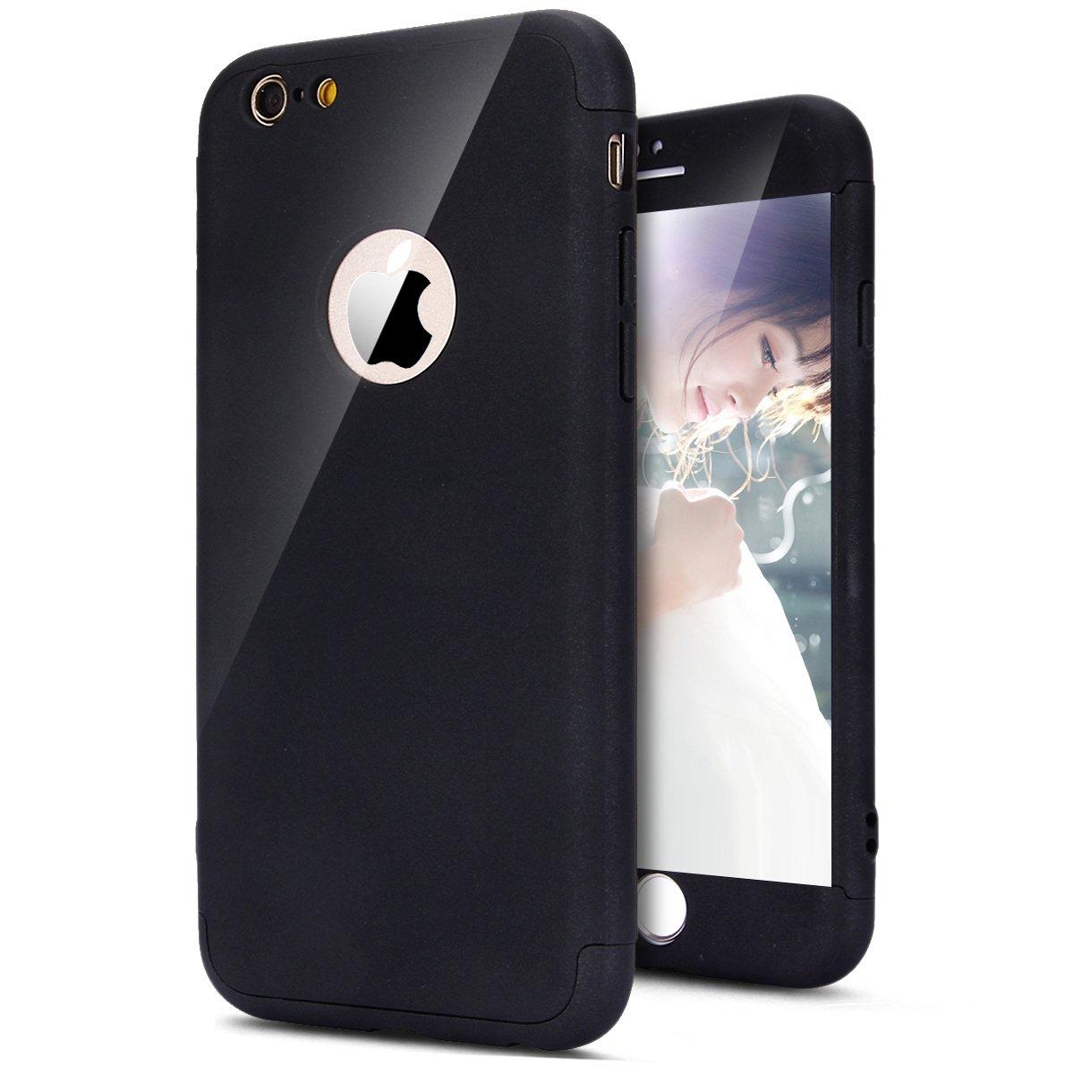 SainCat Custodia iPhone 6, iPhone 6S Cover 360 Gradi Full Body, Custodia Ultra Slim Plastica Rigida Protettiva Anti-Scratch Cover per iPhone 6/6S-Rosso FILP028039