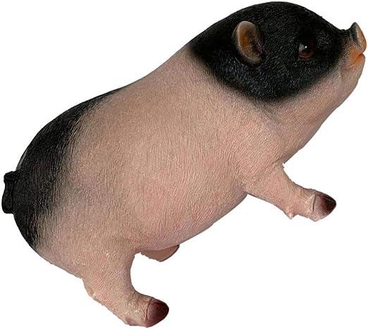Backbayia - Figura decorativa de cerdo de resina con figuras de animales para jardín, artesanía, familia Feng Shui, Cochon Debout Coloré: Amazon.es: Jardín
