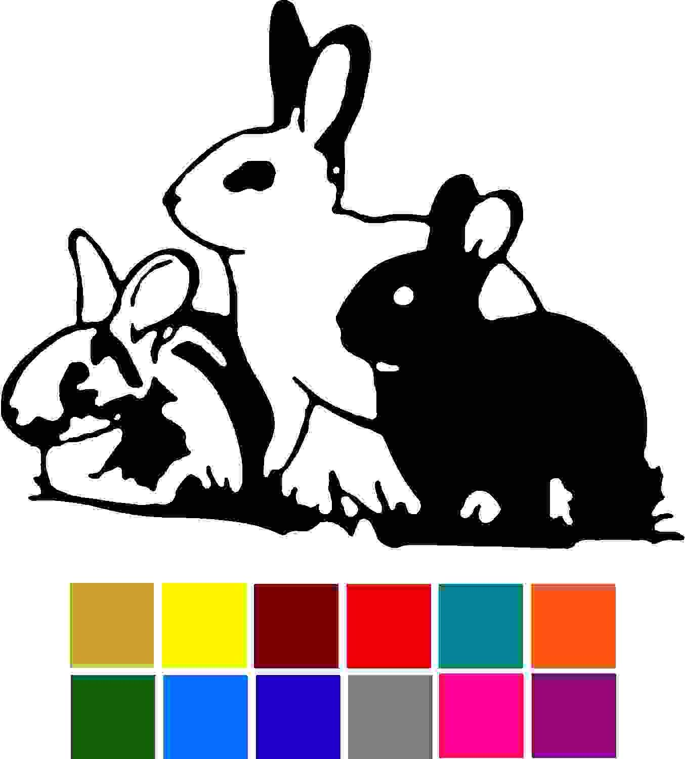 Animal Bunnies Pet Car Window Tumblers Wall Decal Sticker Vinyl Laptops Cellphones Phones Tablets Ipads Helmets Motorcycles Computer Towers V and T Gifts