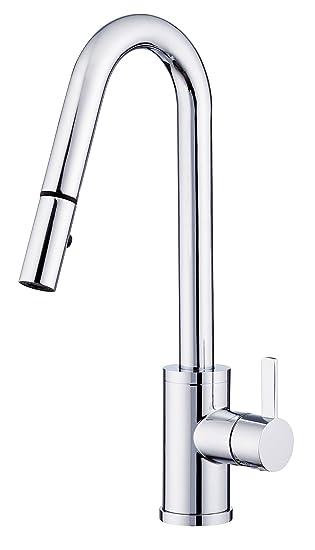 Danze D457130 Amalfi Trim Line Single Handle Pull Down Kitchen