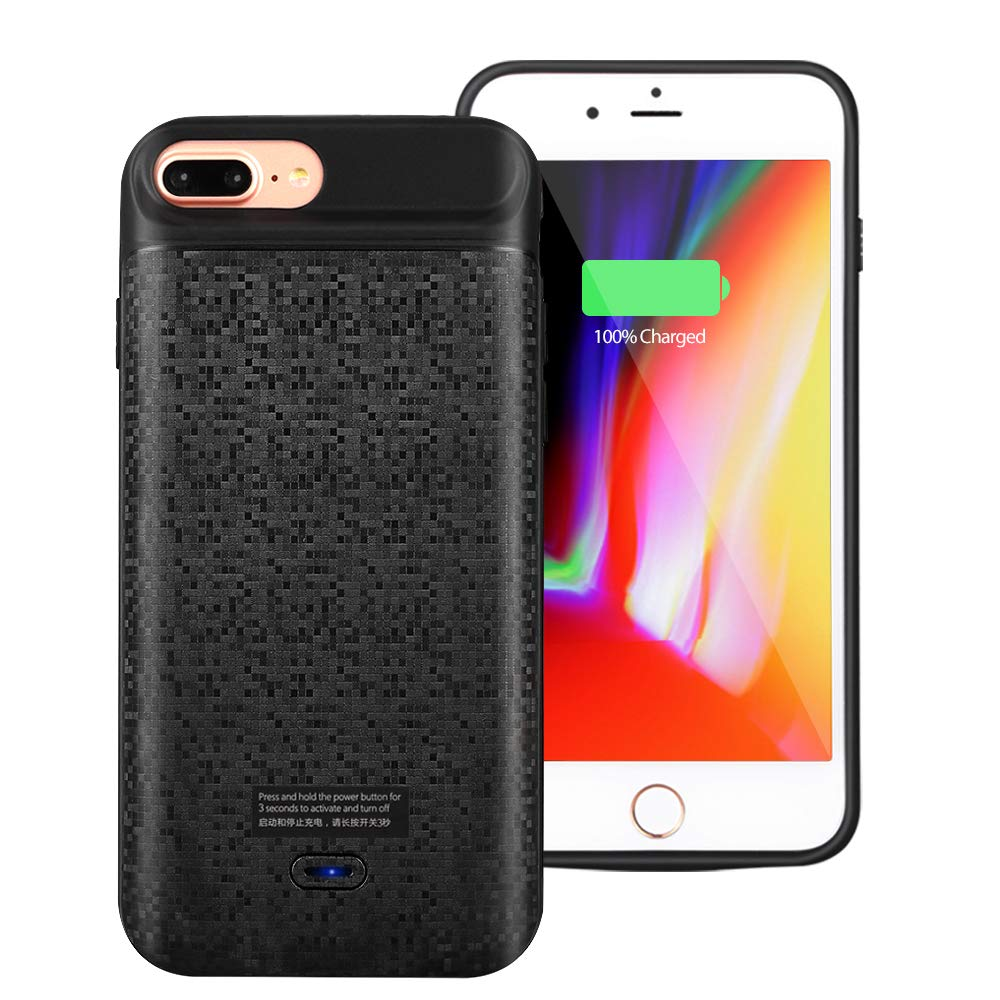Mbuynow Coque Batterie iPhone 6-7-8 Plus Batterie de Secours Chargeur Portable Batterie Externe Chargeur de Protection Power Bank pour Iphone [5.5 Pouces]