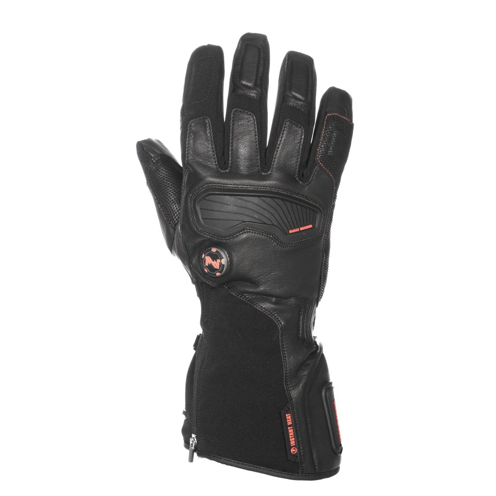 Mobile Warming Unisex-Adult Barra Leather/Textile Heated 7.4v Gloves (Black, XXX-Large)