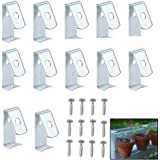 """Sumnacon Flower Pot Clips, Hard Steel Durable Plant Pot Latch Hangers Hook, Holds 5"""" to 8"""" Clay PotS, Terra Cotta Pots with A Lip Around The Edge (12)"""