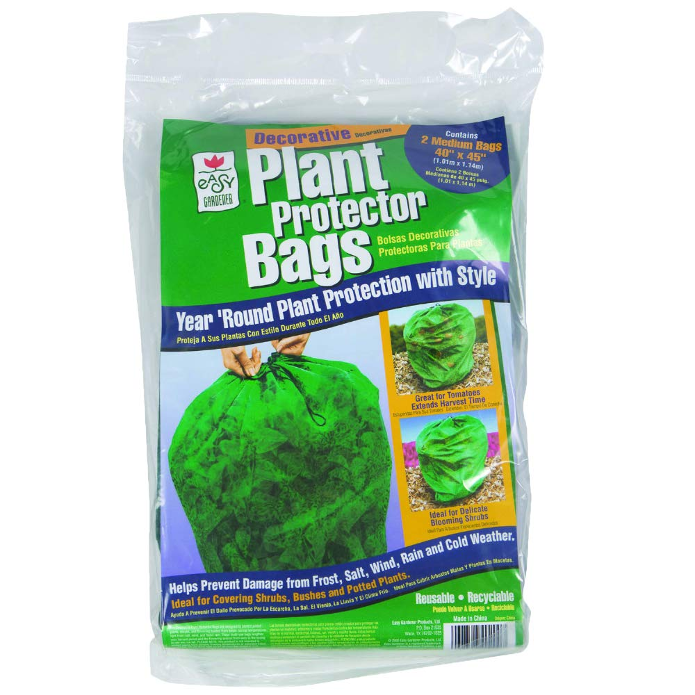 Easy Gardener Plant Protector Bags, Reusable Plant Protection for Tomatoes and Shrubs 40 inches x 45 inches , 2 Bags