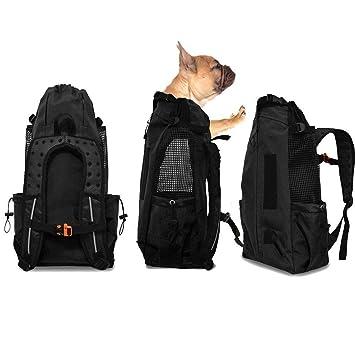 WLDOCA Mochila del Perro,Bolso para Perros Cachorros Portátil Y Seguro, Portador De Transporte De Mascotas para Viajar/Senderismo / Camping: Amazon.es: ...