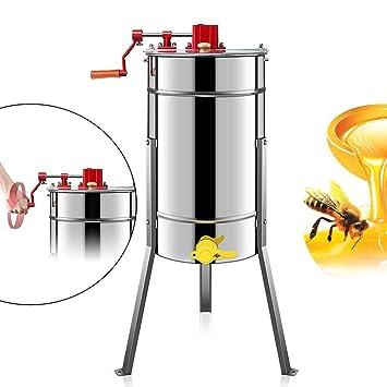 manuelle Honigschleuder HS 3 Rahmen Waben Honig Edelstahl Imkerei Schleuder