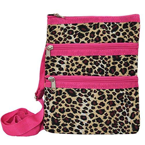 World Traveler Womens 9 Inch Swingpack Purse Bag, Pink Tr...