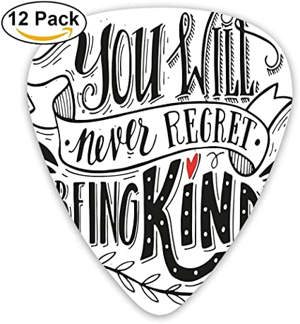 You Will Never Regret Being Kind Quote Hand Drawn Lettering Guitar ...