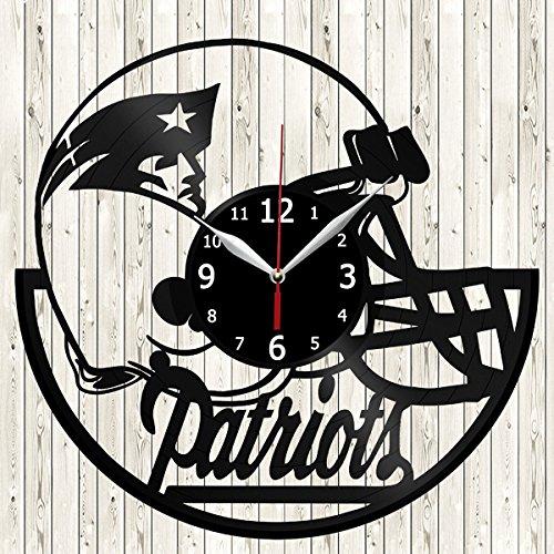 New Record England Patriots (New England Patriots NFL Football Vinyl Record Wall Clock Decor Handmade Unique Original Gift)