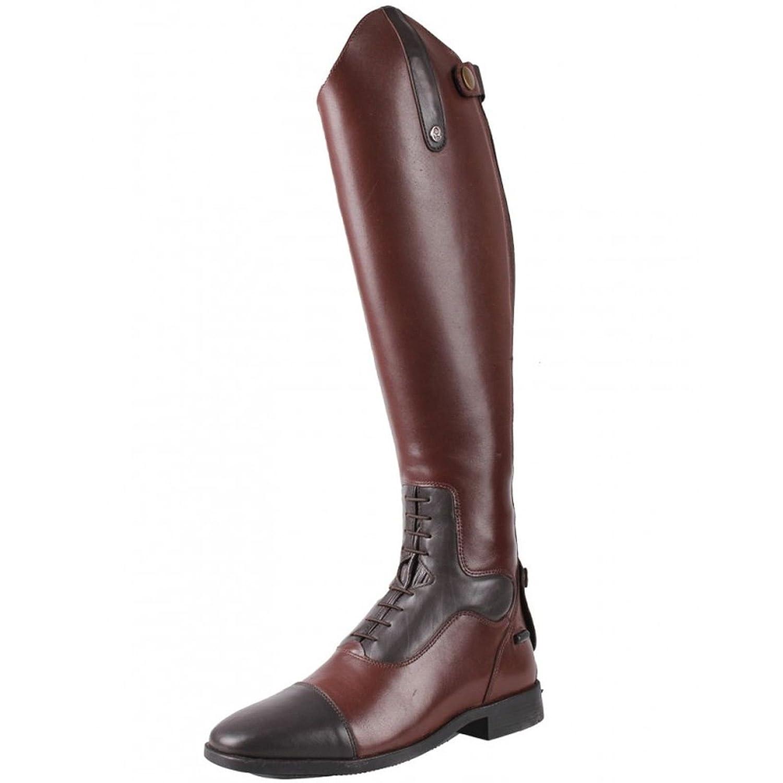 QHP Damen Luxus Leder-Reitstiefel Verena mit mehr Komfort Normale Wadenweite