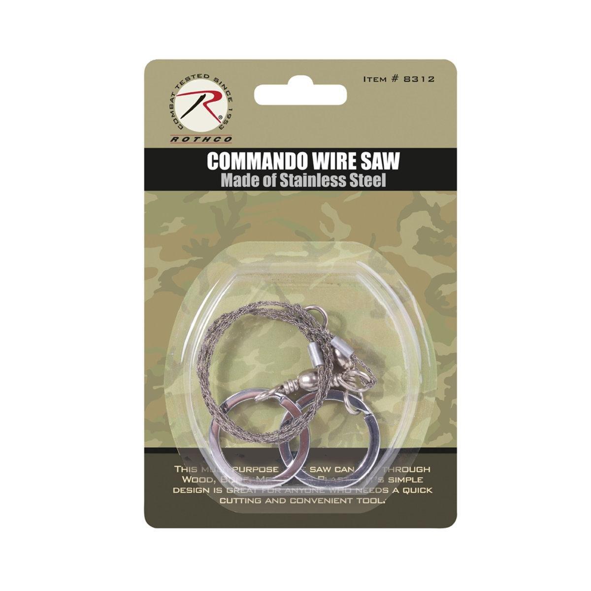 Rothco Commando Wire Saw, Silver, O/S