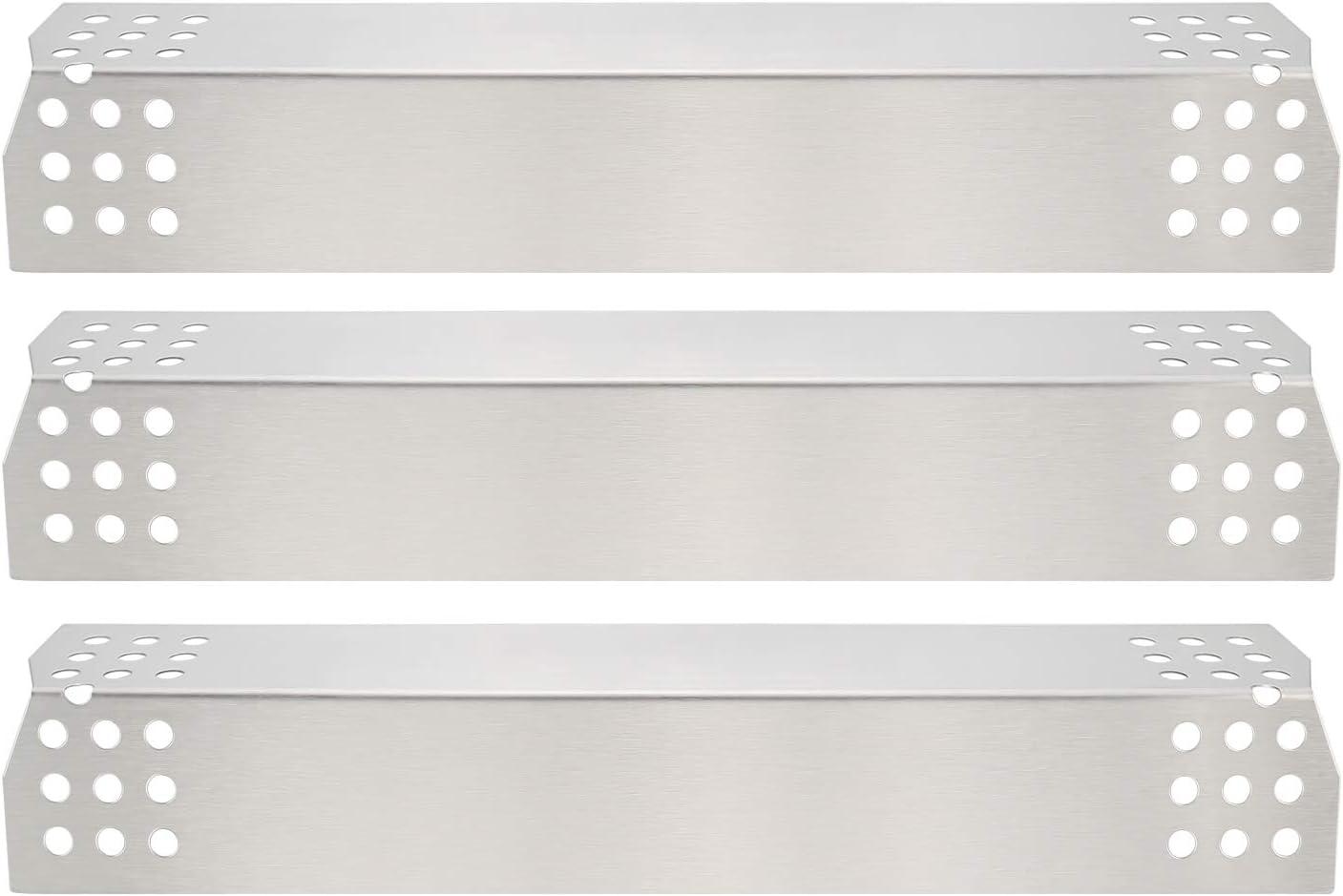 GFTIME Gas BBQ 36.98 x 8.57cm Repuestos de Placa de Calor de Acero Inoxidable para Nexgrill 720-0783E 720-0830H 720-0896 720-0896B 720-0898 720 0896C, Grillmaster 720-0697 BBQ Grill (3pack)