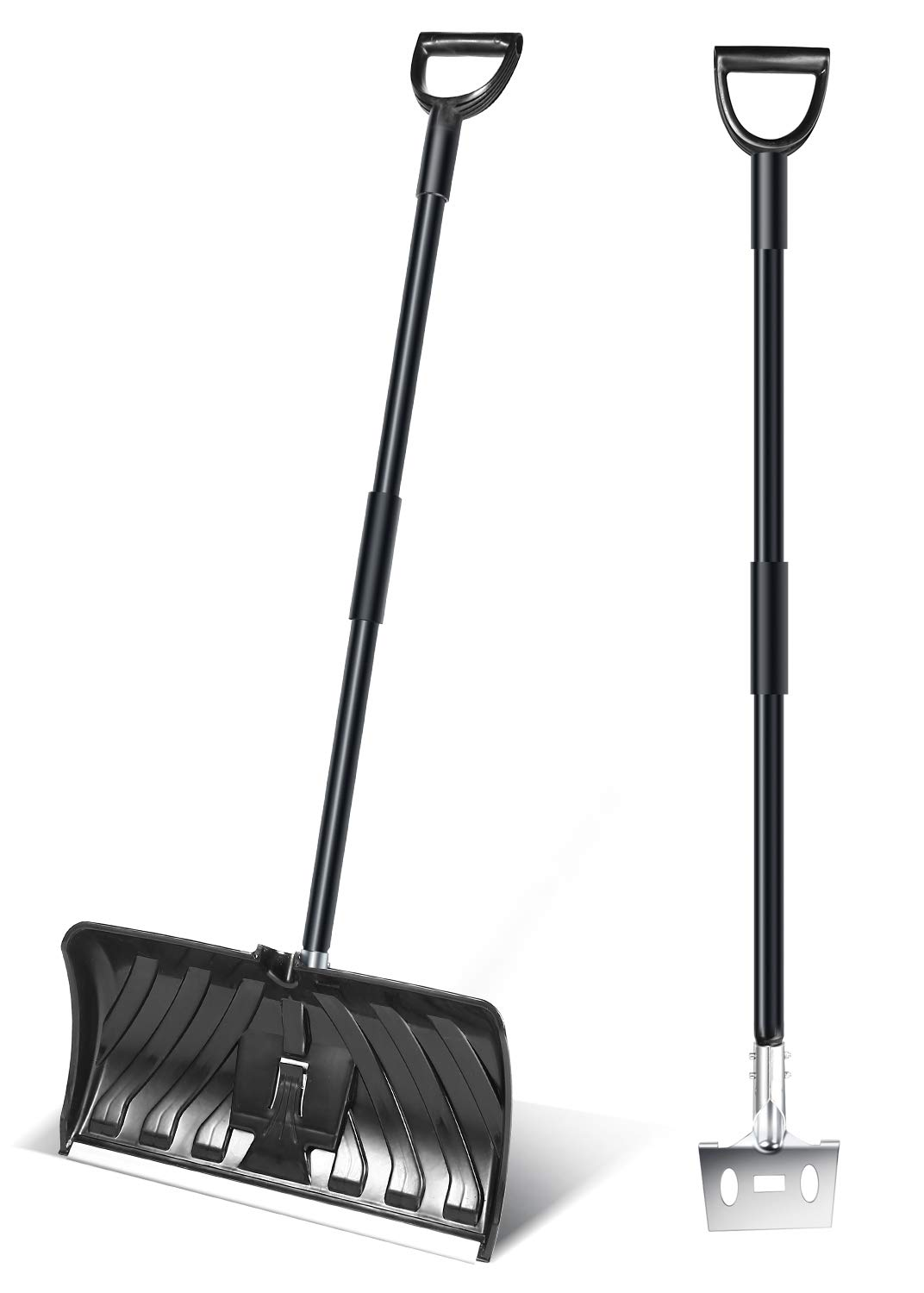 Ohuhu Multipurpose Snow Shovel Ice Scraper, 55-INCH Collapsible Snow Shovels for Snow Removal by Ohuhu