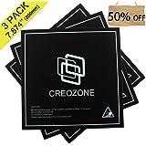 CREOZONE 3Dプリンター プラットフォームシート ヒートベッド ビルドシート 200mm*200mm*0.8mm ABS/PLA対応(3枚入り)