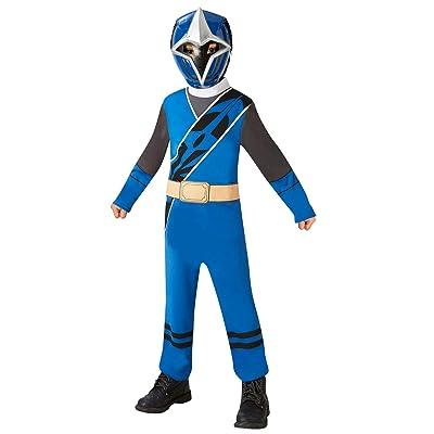 Rubies Disfraz oficial de Power Rangers, Ninja Steel - Disfraz de Ranger azul para niños pequeños, 3 - 4 años: Juguetes y juegos