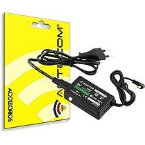 ACTECOM® CARGADOR RED AC PARA SONY PSP 2000 SLIM / 3000 / 1000 FAT