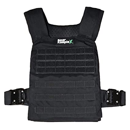 Bear KompleX Weight Vest - Military Grade, Easily Adjustable, Gym Training  Jacket with Heat Treated Steel Alloy Buckles for Strength & Crossfit,