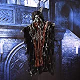 Labu Store Devil Horror Halloween Decorations Halloween Hanging Ghosts Reaper Ghost Electric Haunted House Escape Scary Skeleton Haunted