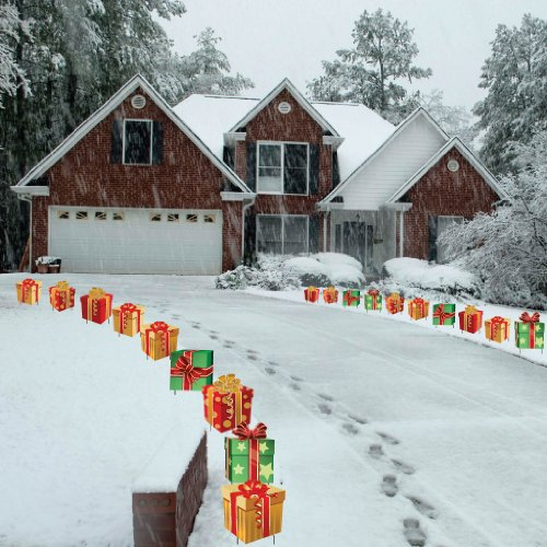Christmas Presents Pathway Markers