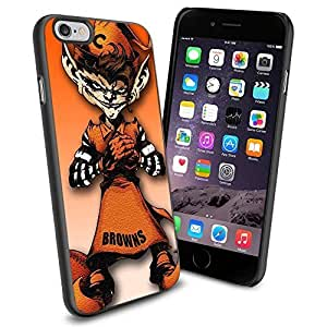 American Football NFL CLEVELAND BROWNS Mascot, Cool iphone 6 plusd 5.5 Case Cover Collector iPhone TPU Rubber Case Black