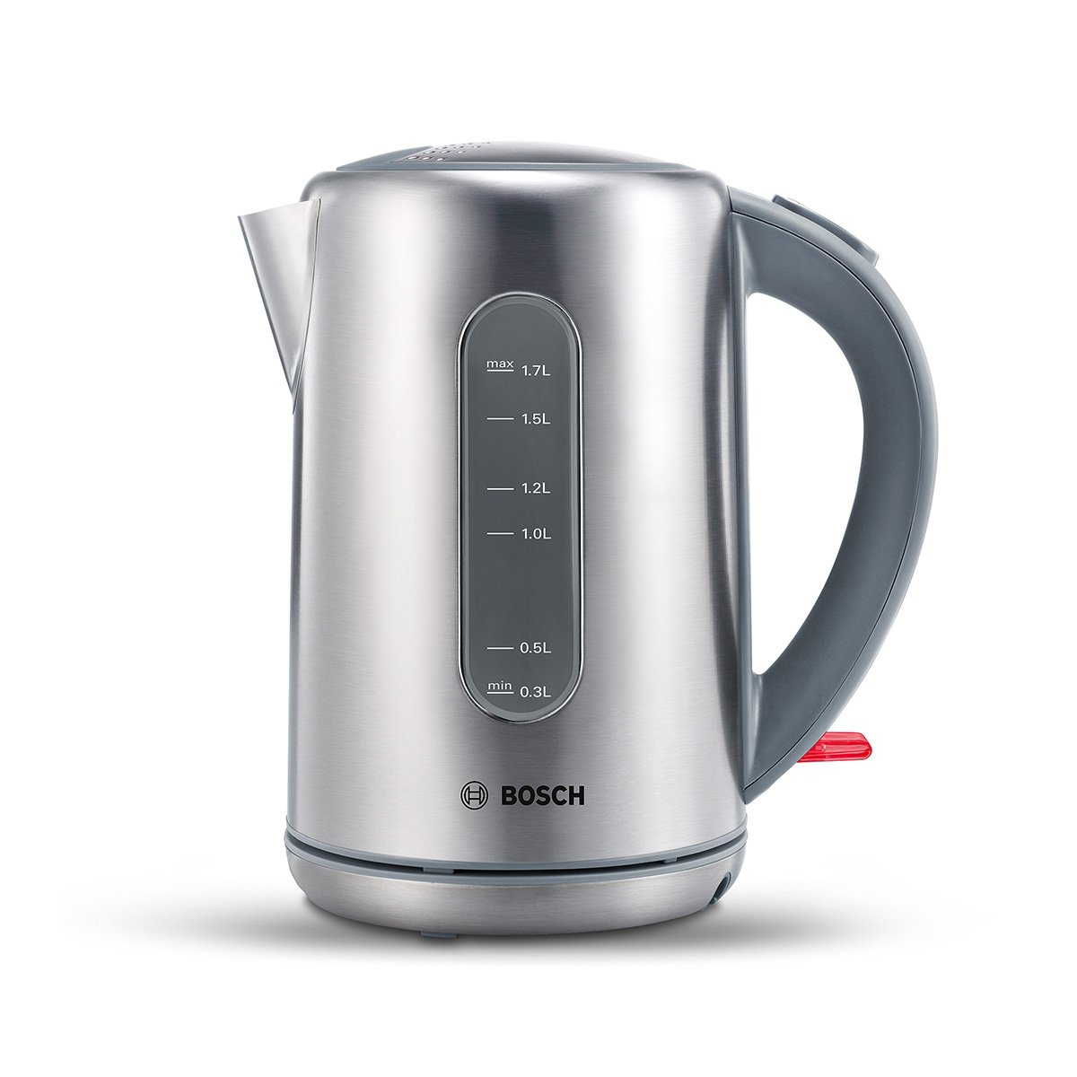 Bosch TWK7901 Wasserkocher, Dampfstopp-Automatik, entnehmen Kalkfilter, 2200 W, edelstahl / hellgrau