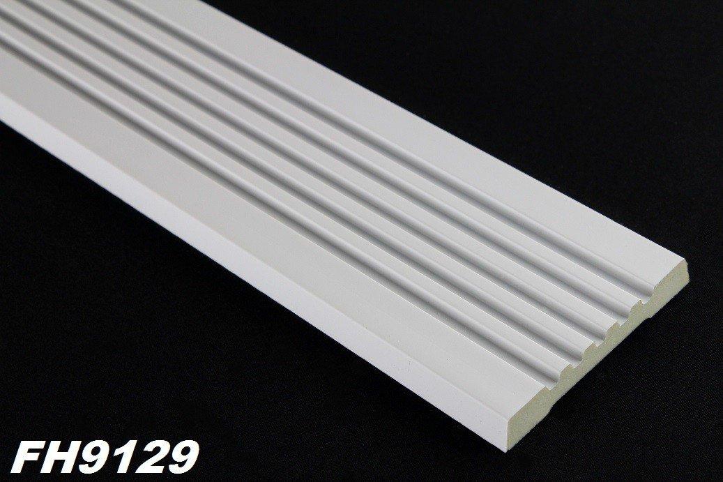 FH9129 2 Meter PU Flachprofil Leiste Wand Dekor Stuck sto/ßfest 80x18mm