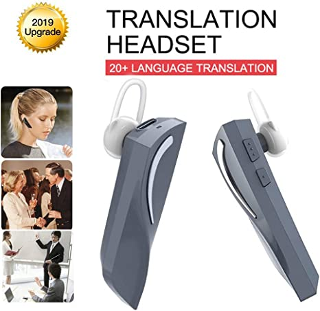 NIUJF Portable Wireless Intelligent 2-Way Real Time Translator Earbuds Bluetooth Voice Translation Headset 33 Languages for Business Learning Travel Driving Run Indoor Outdoor