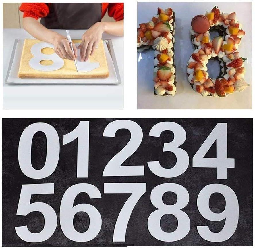 0-9 Zahl Kuchenformen Nummer Kuchen Brot Backform Set Geburtstag Party Hochzeit