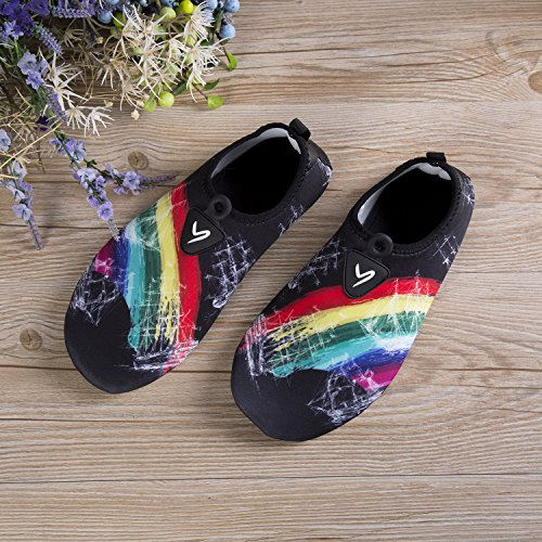 Womens for Beach Barefoot Water Aqua Pool Yoga Rainbow1 Surf Shoes Slip Drying Aqua Shoes YQXCC Mens Exercise Quick Anti H7tPHq