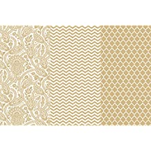 """Deco Art Decoupage Paper (3 Pack), 12"""" by 16"""", Gold Trends"""
