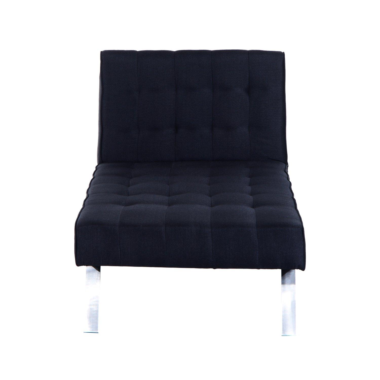 "Amazon Hom 70"" Modern Reclining Chaise Lounge Sleeper Sofa"