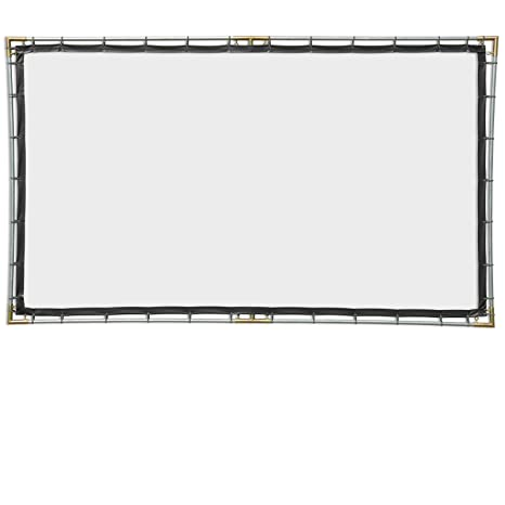 Carl S Flexiwhite Hanging Projector Screen Kit 16 9 6 75x12 Ft 165 In Folded Portable Outdoor Projector Screen Hd 3d Dark Controlled