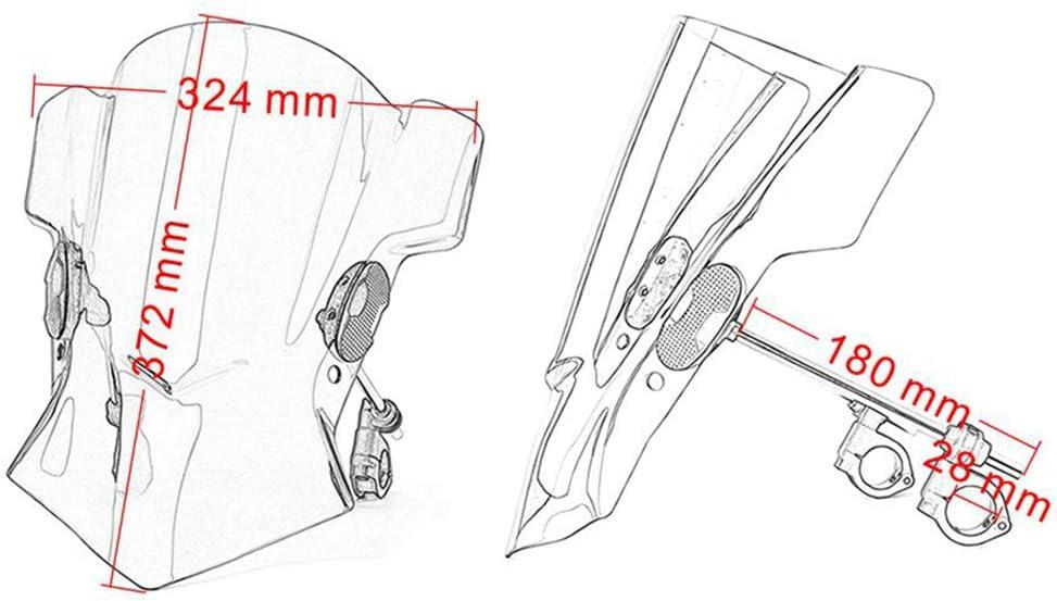 Semoic Universal Motorcycle Adjustable WindScreen Windshield for MT03 MT07 MT09 F800R R Nine T 1200RS R1200RT Motorcycle Accessories