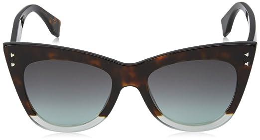 Fendi Damen Sonnenbrille FF 0238/S IB Phw, Grün (Havana Green/Grey Green), 52