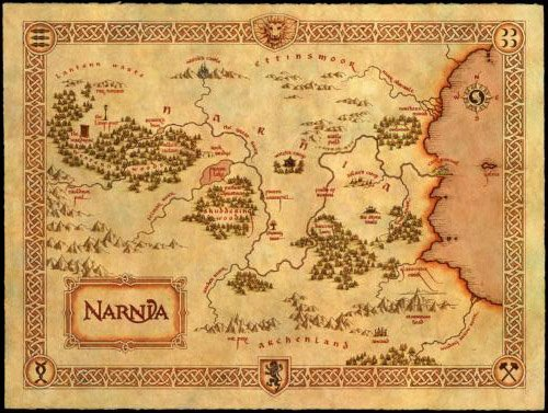 Narnia Map Mini Poster #01 11x17 Master Print
