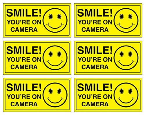 Top sign smile you are on camera