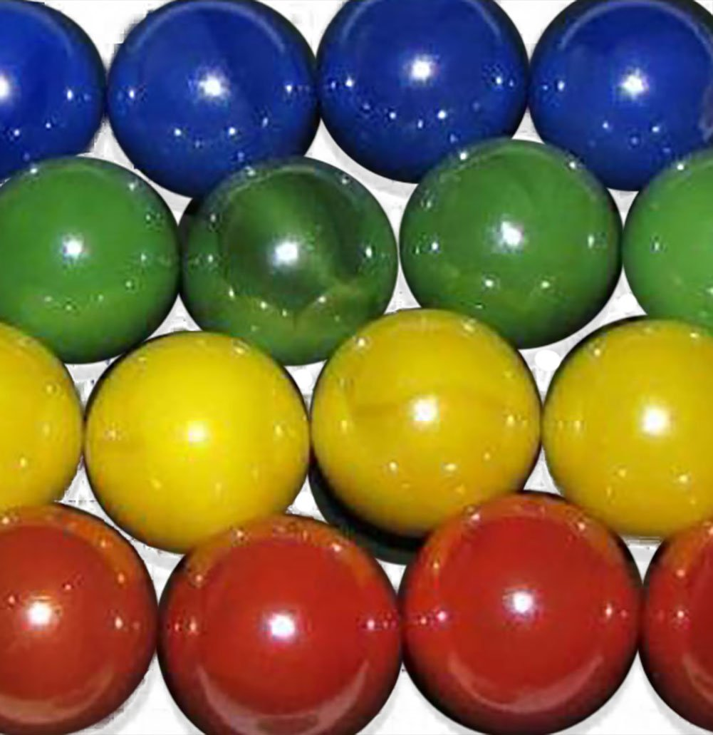 Amazon unique custom 58 inch set of 16 round opaque amazon unique custom 58 inch set of 16 round opaque marbles made of glass for filling vases games decor w primary colors 4 team vs design reviewsmspy