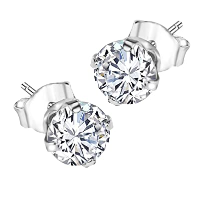 variety styles of 2019 cheap price super service GW Clarissa Jewellery 925 Sterling Silver Stud Earrings For Women With  Swarovski® Crystals & Gift Box