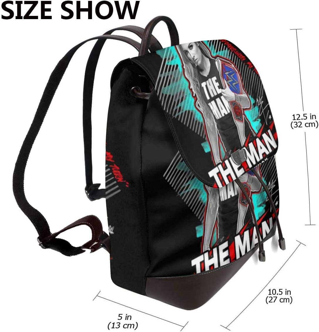 WWE The Man Becky Lynch Its My Time My Opportunity My Turn Womens Leather Backpack