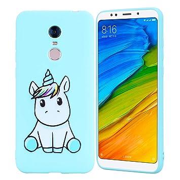 HopMore Funda Xiaomi Redmi 5 Plus Silicona Motivo Unicornio Animal Divertidas Carcasa Redmi 5 Plus Ultrafina Slim Case Antigolpes Caso Protección ...