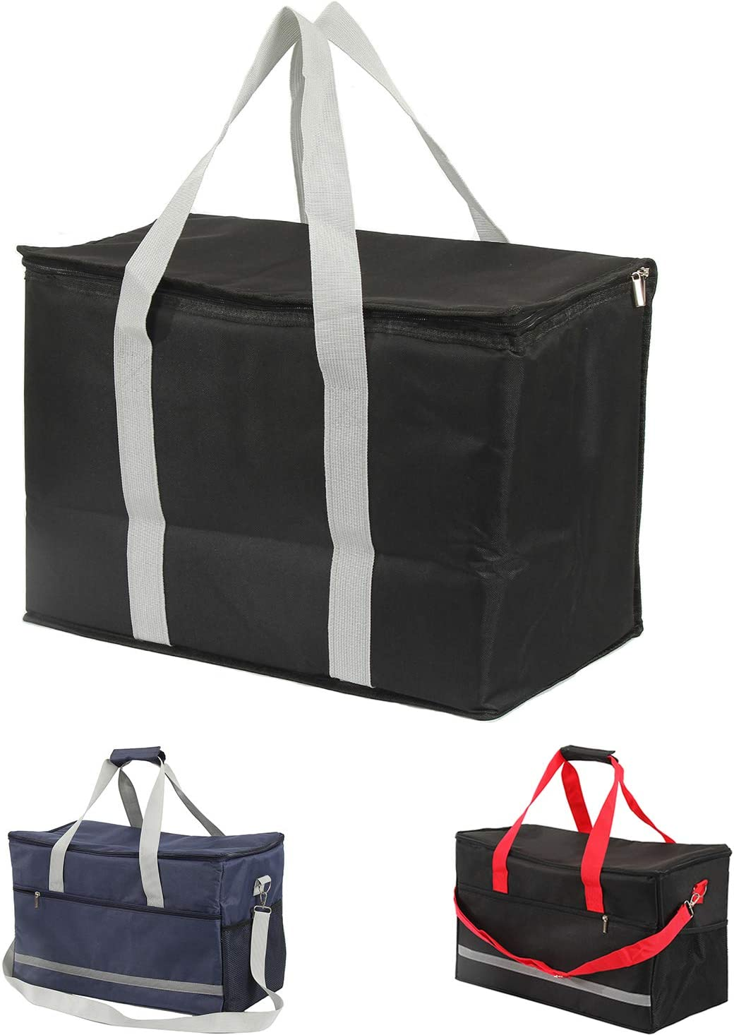 Foldable food insulation tote bag,Reusable food insulation bags,Can be used for food transportation, camping, picnic, travel
